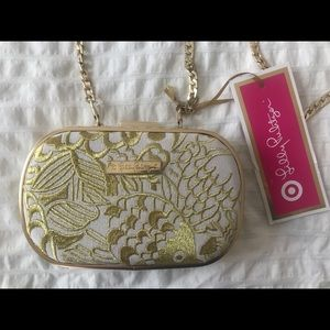Lilly Pulitzer for Target gold crossbody clutch